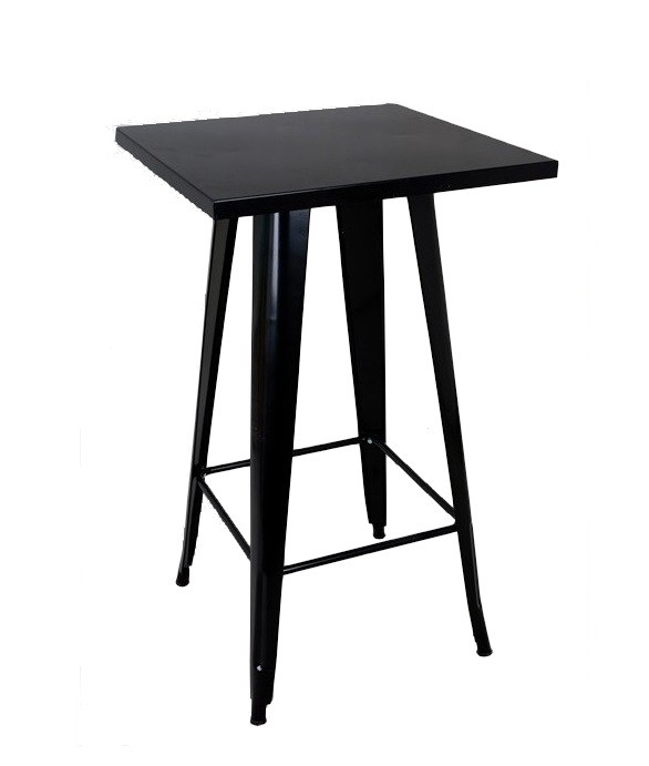 Table TOL, High, Steel, Black, 60x60 Cms