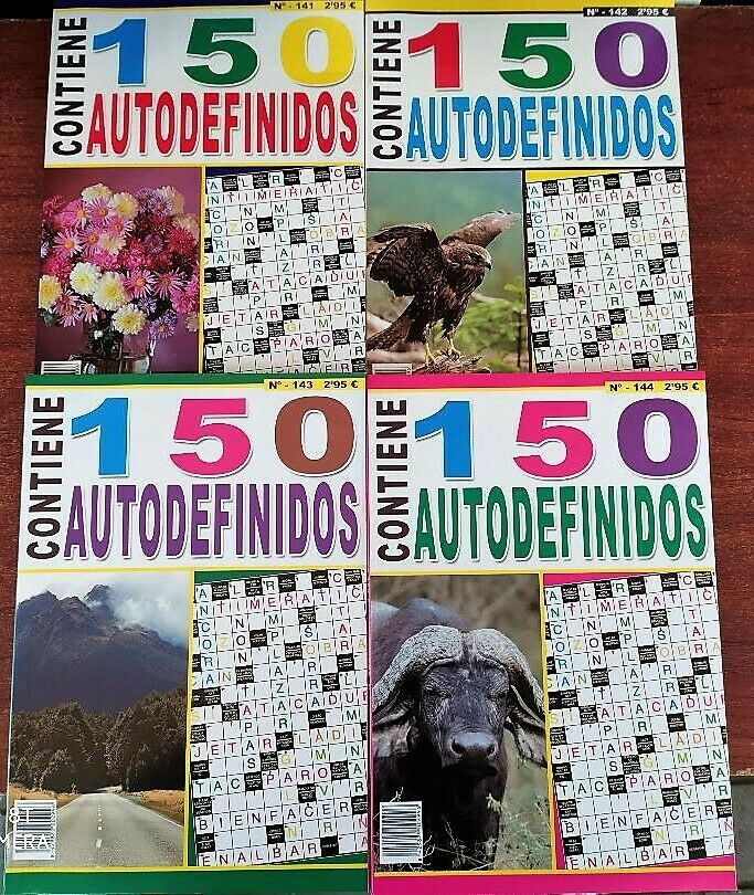AUTODEFINIDOS. (Pack of 4 volumes of 100 pages) with gift pen. To enjoy free time with self-defined