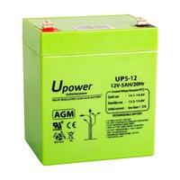 U-Power UP5-12S Batería 12V 5Ah plomo AGM recargable para juguetes, luces de emergencia, equipo de riego, instalaciones solares