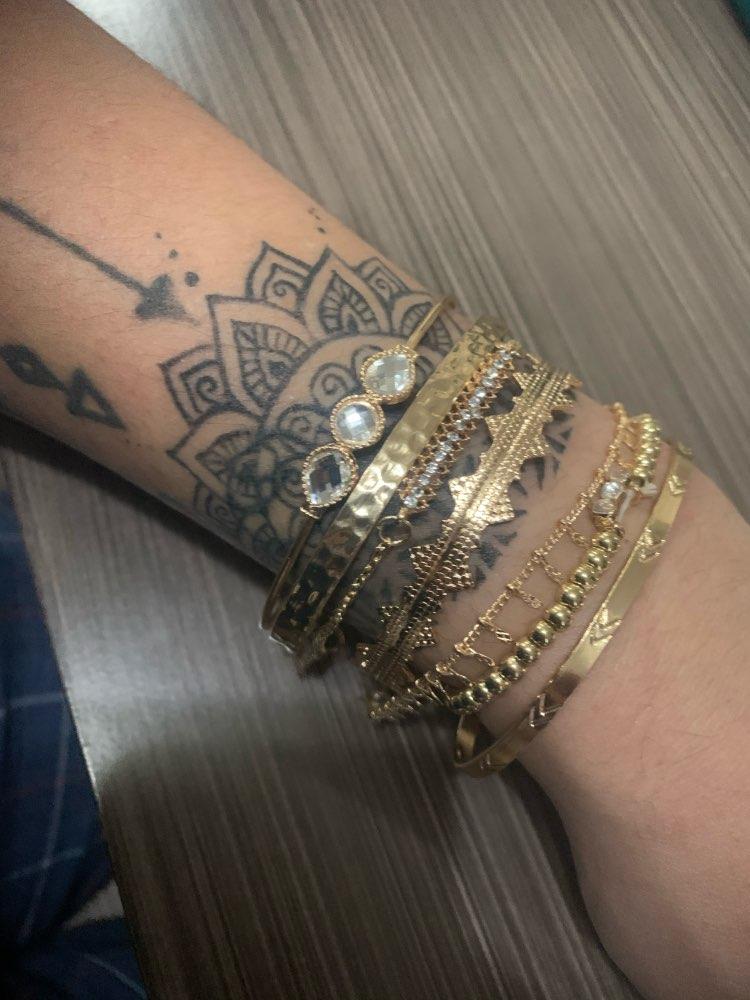 7Pcs/Set Gold Color Bohemian Style Bracelets