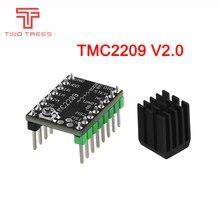 Tmc2209 v2.0 motorista de motor deslizante tmc2208 uart 2.8a peças da impressora 3d vs tmc2130 tmc5160 para skr v1.3 mini e3