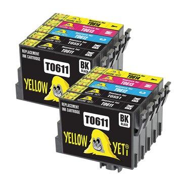 10pcs Epson Compatible T0611 - T0614 Ink Cartridge For Epson Stylus D68 D88 DX3800 DX4800 DX4850 DX3850 DX4200 DX4250 printer