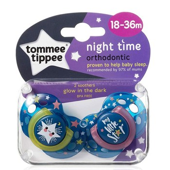 Tommee Tippee Closer to Nature Night Time Newborn Baby Pacifier, 0-6 Months 43341385