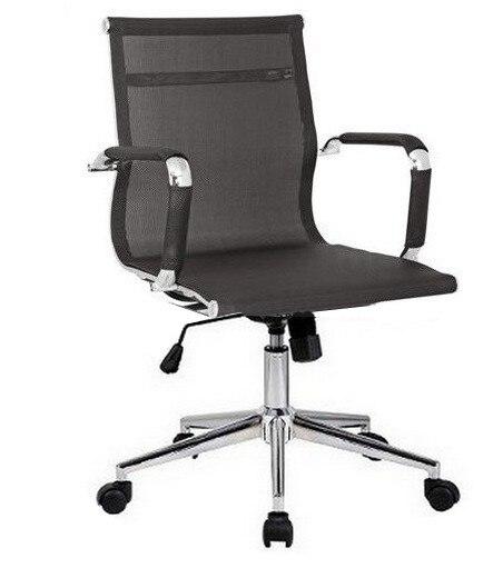 Office Armchair EGER, Rotatable, Gas, Tilt, Black Mesh