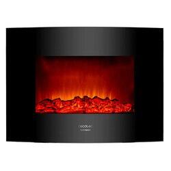 Chimenea Eléctrica Decorativa de Pared Cecotec Warm 2200 Curved Flames 2000W Negro