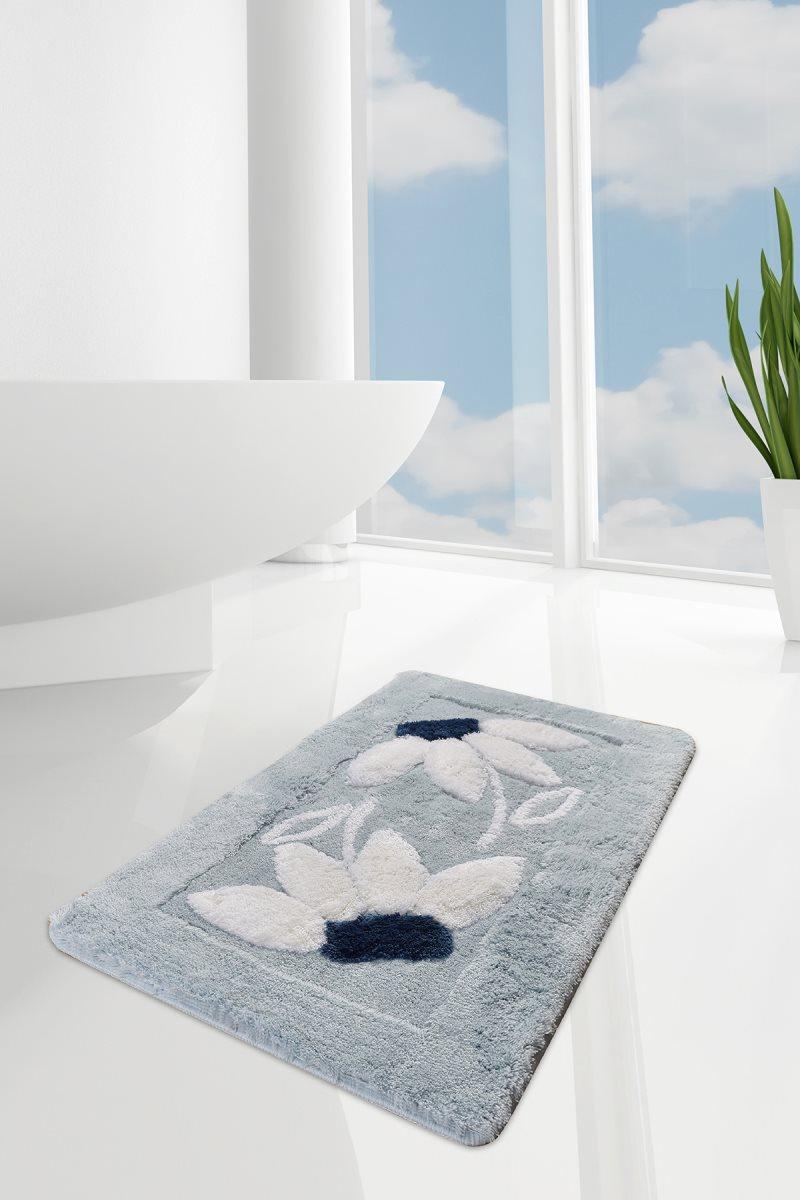 Bath Mat-mats | Mat Bath Mats Non Slip Anti Mould Mats Daisy Blue 60X100 Cm