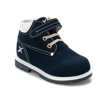 FLO MOIRA 9PR granatowe męskie buty dziecięce KINETIX tanie i dobre opinie ALLIGATOR Korka Chłopcy