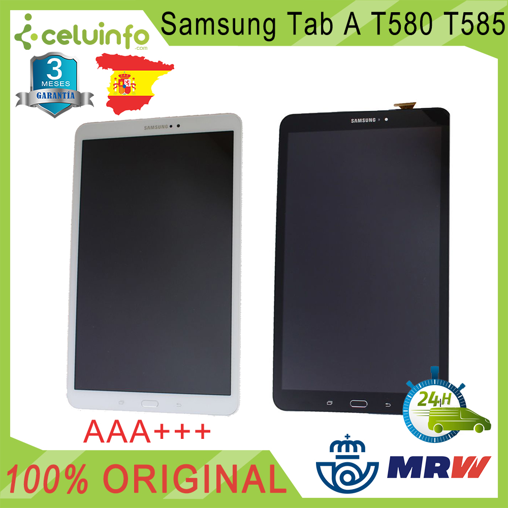Original Full Screen For Samsung Galaxy Tab A 2016 T580 T585 Color White Black Quality AAAA Recovered