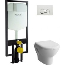Комплект Vitra Zentrum унитаз с сиденьем микролифт+ инсталляция+ кнопка хром(9012B003-7206