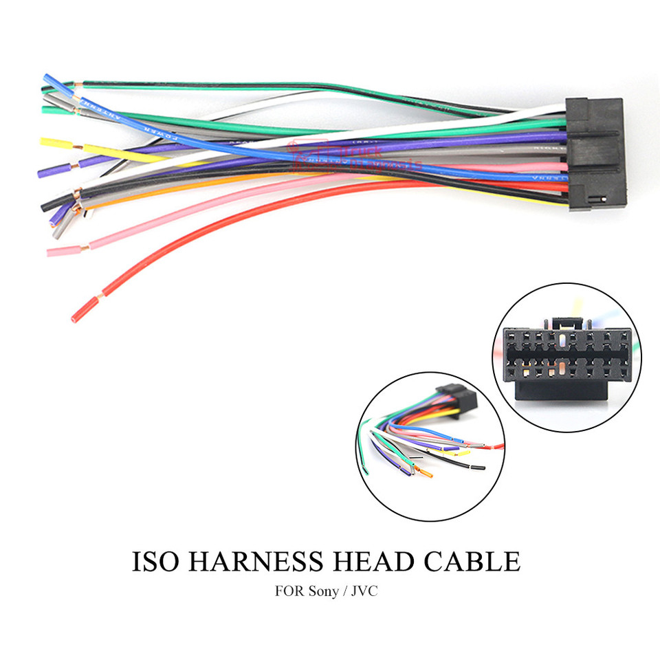 Car ISO Wiring Harness For Sony CD CDX XAV JVC KD KS KW Power Loom Radio  Wire Cable Auto Stereo Adapter Connector Adaptor 15 009|Car Diagnostic  Cables & Connectors| - AliExpresswww.aliexpress.com