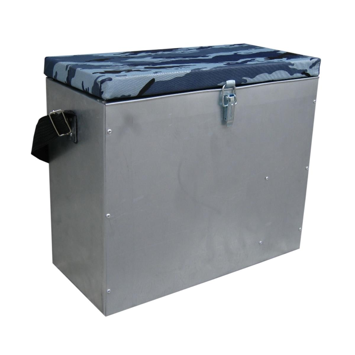 Box Winter Galvanized (23л) Helios Roomy Box With Warm Cap, Designed For Storage Fishing Tackle