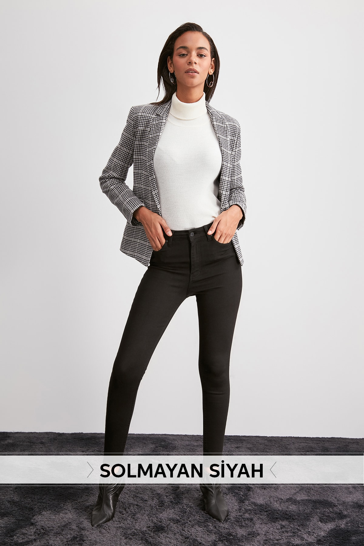 Trendyol High Waist Skinny Jeans TWOAW20JE0441