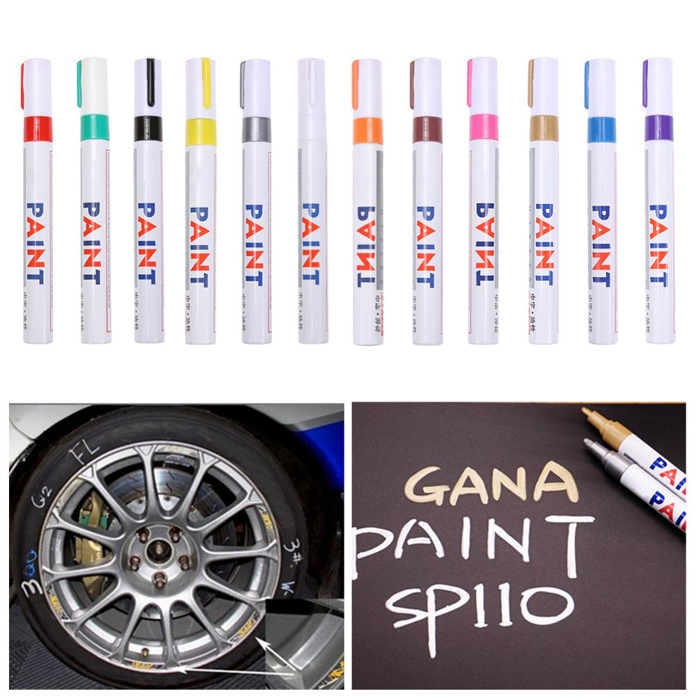 Colorful Waterproof Paint Marker Pen Car Tyre Tire Tread CD Metal Permanent Art Markers Marcador Caneta Office School Supplies