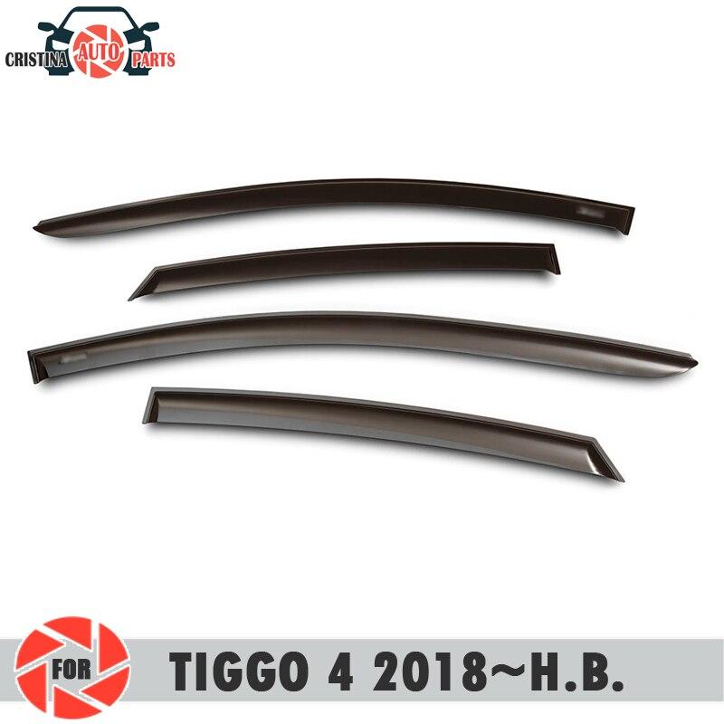 Finestra deflettore per Chery Tiggo 4 2018 ~ pioggia deflettore sporcizia protezione accessori della decorazione stile auto stampaggio