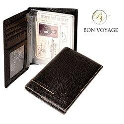 Porta documentos multifuncional Unisex Bon Voyage hecho de cuero genuino