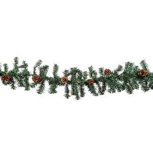 Christmas tree garland, 250 cm with cones snowmen e96622