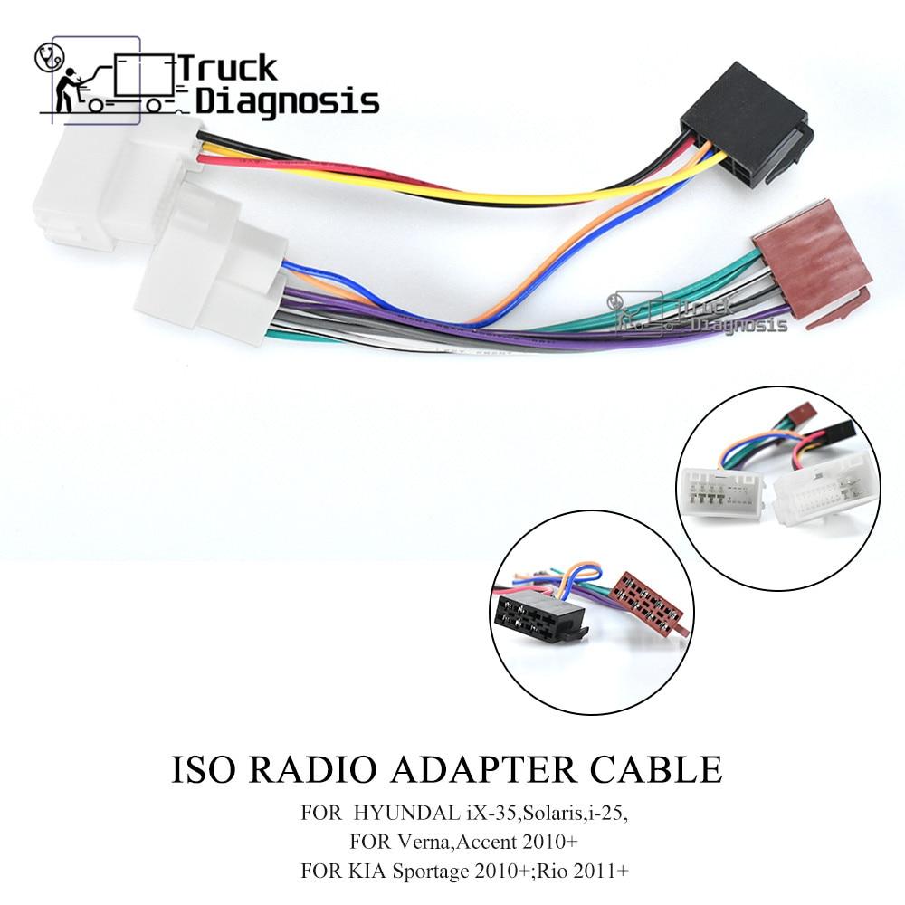 Radio Adaptateur Pour Kia Sportage Rio CARNIVAL SORENTO Radio Câble ISO Câble Connecteur
