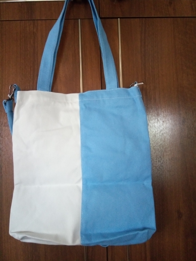 Women's Stylish Two Tone Canvas Tote Bag photo review