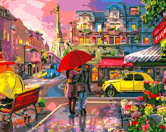 Painting By Numbers GX 26253 Pair Under The Umbrella 40*50