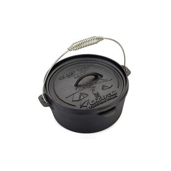 Casserole cast iron 4,25 Liter-4.5 Quart Camp Oven