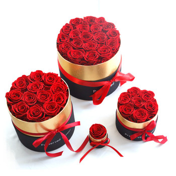 цена на 2020 Mother's Presents Eternal Rose Handmade Preserved Real Rose Romantic Valentines day gift Mother Day
