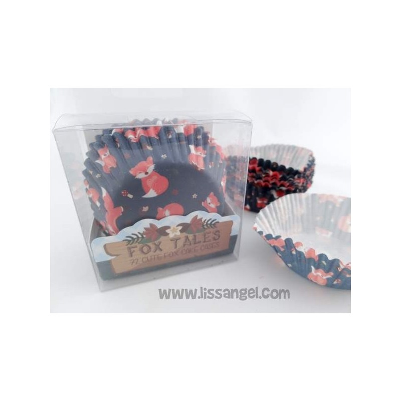 Fox Paper Cupcake Cases / Capsules|Money Boxes|Home & Garden - title=