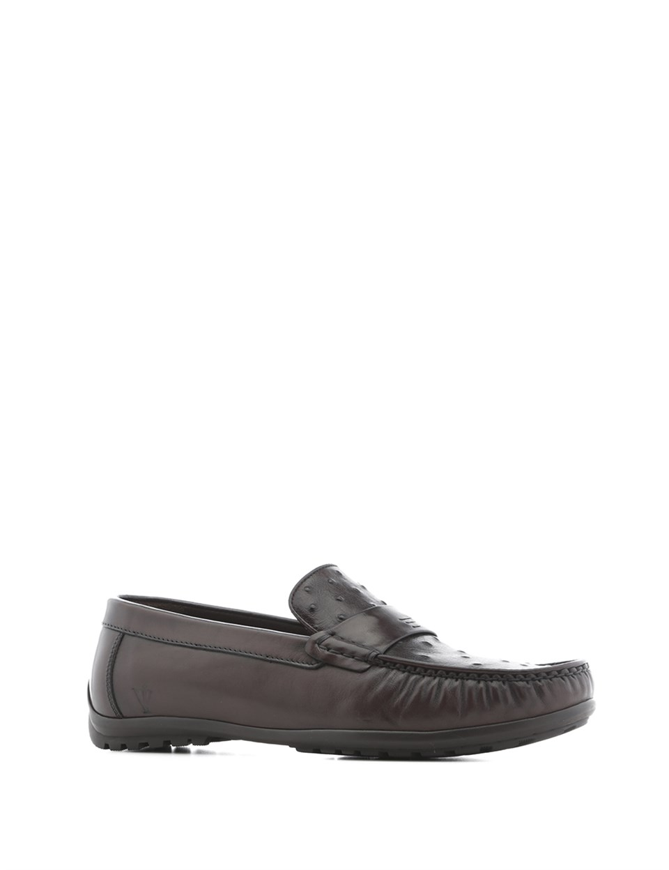 ILVi-Genuine Leather Handmade Keytlin Men's Moccasin Brown Darkened Men Shoes 2020 Spring Summer (Made in Turkey)