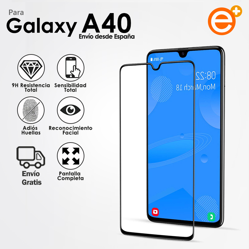 Full Tempered Glass Screen Protector For Samsung A40 Security Glass Protection For Smartphone E-PLUS