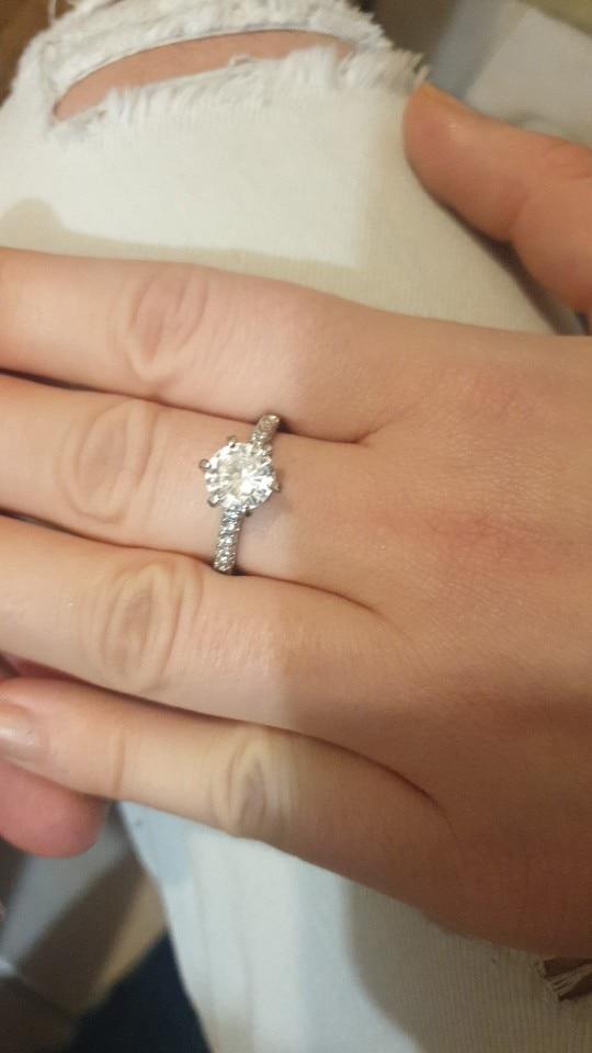 Bague en argent massif pour femme - bague de mariage