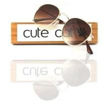 Cute Cat Flat Round Metal 3447 fltro50 Rayban Desing uv400 filter desing brown sunglasses