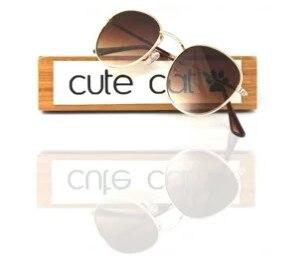 Cute Cat Flat Round Metal 3447  Fltro50 Rayban Desing Uv400 Filter Desing Brown Sunglasses Glasses Turkey's Best-selling Glasses