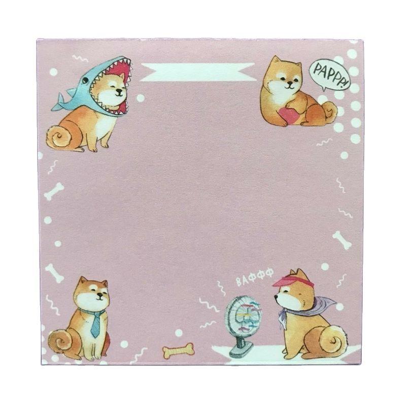 Блок для записей Собака Акита Ину, 60 листов (80 мм х 80 мм)