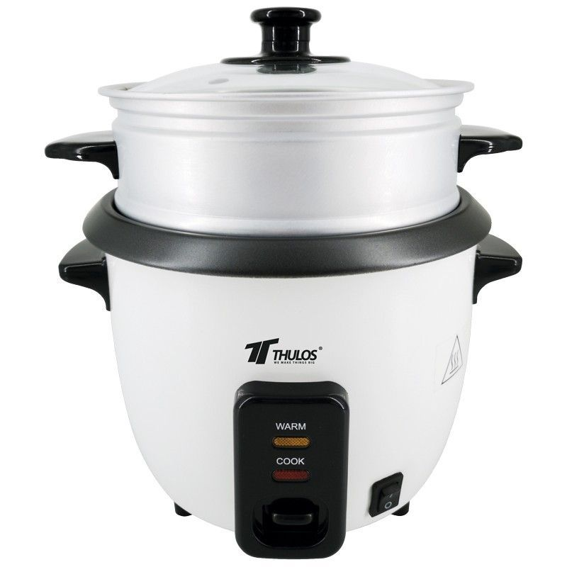 THULOS, Electric Rice Cooker With Capacity 0.6,1.0,1.5,1.8 LTR, With Keeping Warm Function. Include Spoon And Glass Measurer