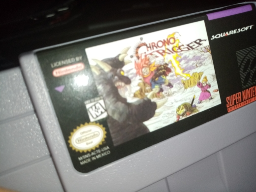 Chrono Trigger 16bit game cartridge with box US Version photo review