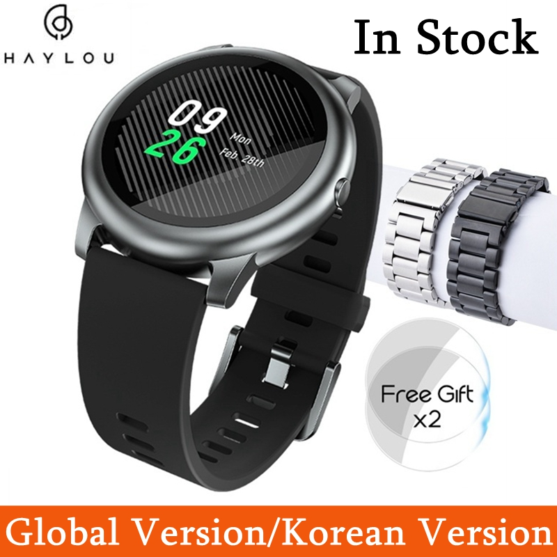 Haylou solar relógio inteligente versão global ip68 à prova dip68 água relógios masculinos femininos para android ios haylou ls05 de...