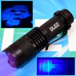UV Uv LED Taschenlampe DLED Mini Schwarz 395nm