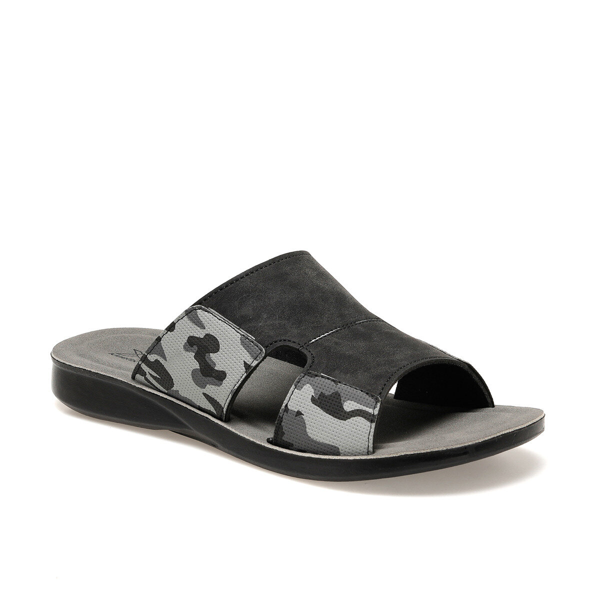 FLO RESTON Black Male Slippers KINETIX