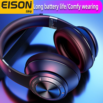 Eison jogo fones de ouvido sem fio baixo atraso fone super efeito som stero dobrável para xiaomi iphone telefone 1