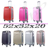 スーツケースチケット手荷物デ手旅行キャビントロリー ABS 剛性 4 ホイールキャスター 52 × 32 × 20