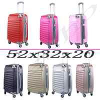Suitcase Tickets Baggage de Hand Travel Cabin Trolley ABS Rigid 4 wheel castors 52x32x20