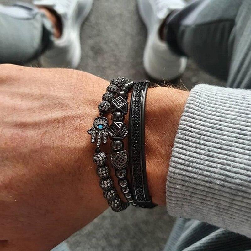 Mcllroy Crown Armband Männer Charms Luxus Gold Macrame Perlen Armbänder Für Frauen Pulseira Masculina Geflochten Herren Armbänder 2018