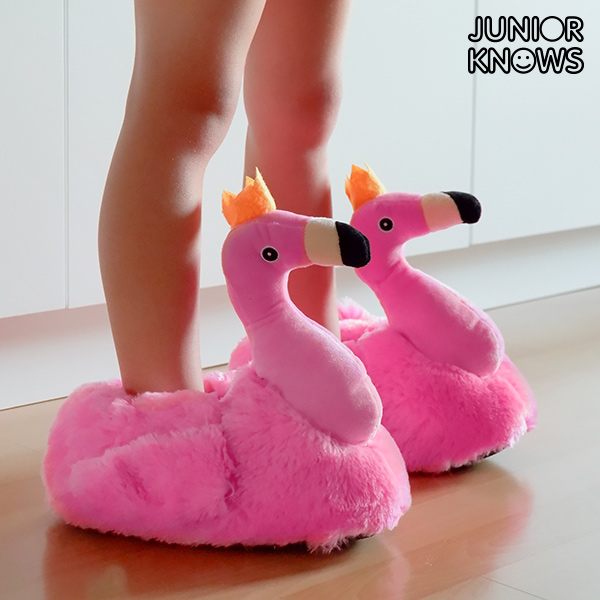 Junior Knows Flamingo Children's Slippers