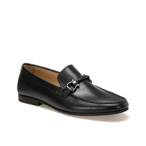 FLO Black Men Leather Men's Casual Shoes Luxury Brand Mens Loafers Flats Breathable Slip on Black Driving Shoes Mocassin Garamond 4245