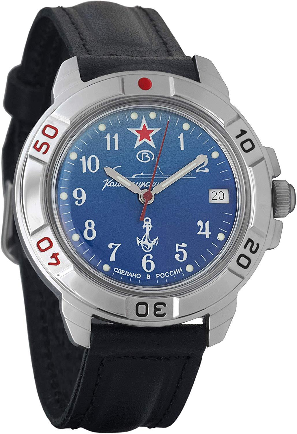 Watch Vostok Komandirskie 431289 Mechanical Hand Winding With Blue Dial And Underwater Boat