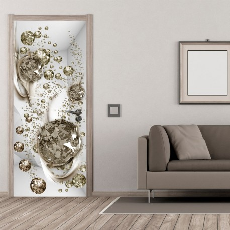 Photo Wallpaper For Door-Photo Wallpaper-Bubble Abstraction I