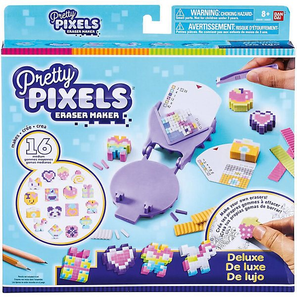 Set Of Erasers Pretty Pixels Eraser Maker