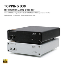 TOPPING D30 USB DAC USB/Coaxial/Optical/DSD Audio Decoder XMOS CS4398 Supports PCM192KHz/24Bit, DSD64/DSD128 audio amplifier gustard dac x20pro dual es9028pro xmos dsd dop 384k professional dac decoder dsd256 coaxial optical aes ebu dac x20 pro