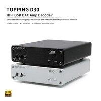 TOPPING D30 HIFI DSD DAC Amp Decoder CS4398 XMOS USB DAC Audio Decoder Coaxial Optical Fiber 24Bit/192KHz