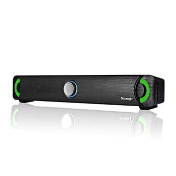 أسود 9014BT سماعة لاسلكية تعمل بالبلوتوث المتكلم الملونة LED الكمبيوتر المتكلم 10 واط Gaoyin الصوت مكبر الصوت ستيريو USB بالطاقة