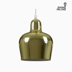 Sufit jasny złoty żelazo (16x16x21 cm) przez Shine Inline w Wiszące lampki od Lampy i oświetlenie na